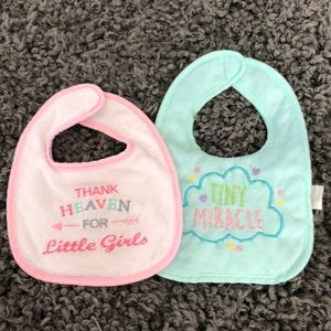 Luvable brand cloth bibs for baby